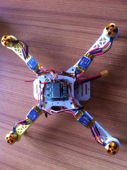The quadcopter in development